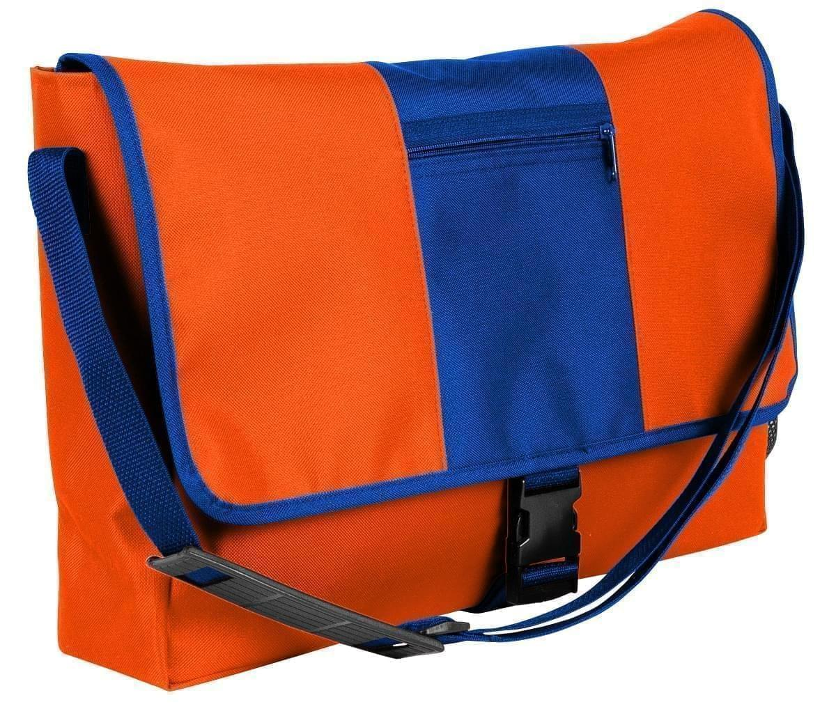 USA Made Nylon Poly Dad Shoulder Bags, Orange-Royal Blue, OHEDA19AXM
