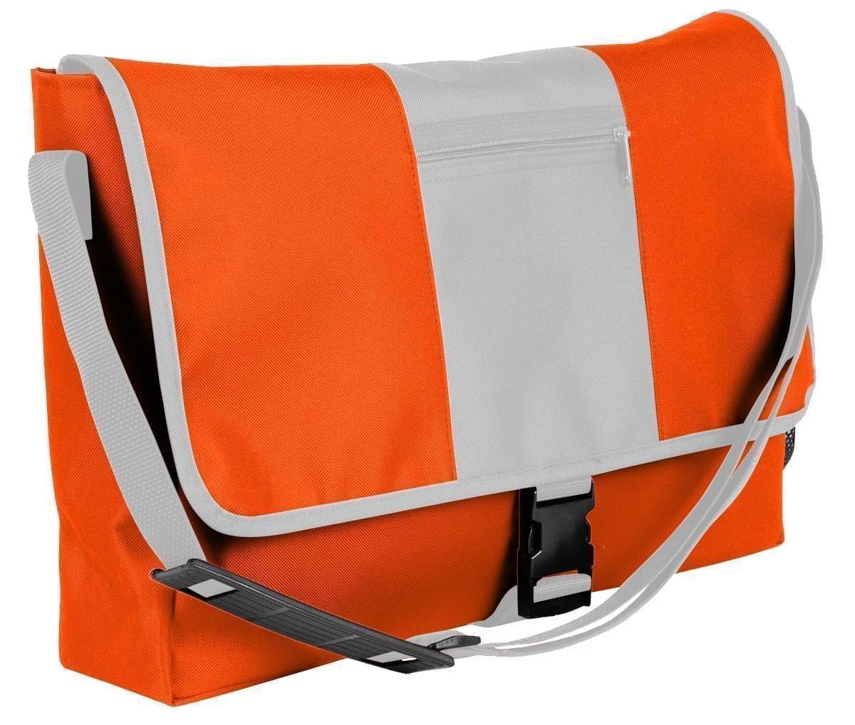 USA Made Nylon Poly Dad Shoulder Bags, Orange-White, OHEDA19AXP