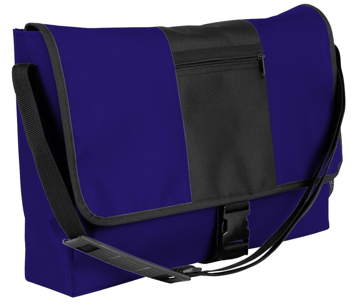 USA Made Nylon Poly Dad Shoulder Bags, Purple-Black, OHEDA19AYC