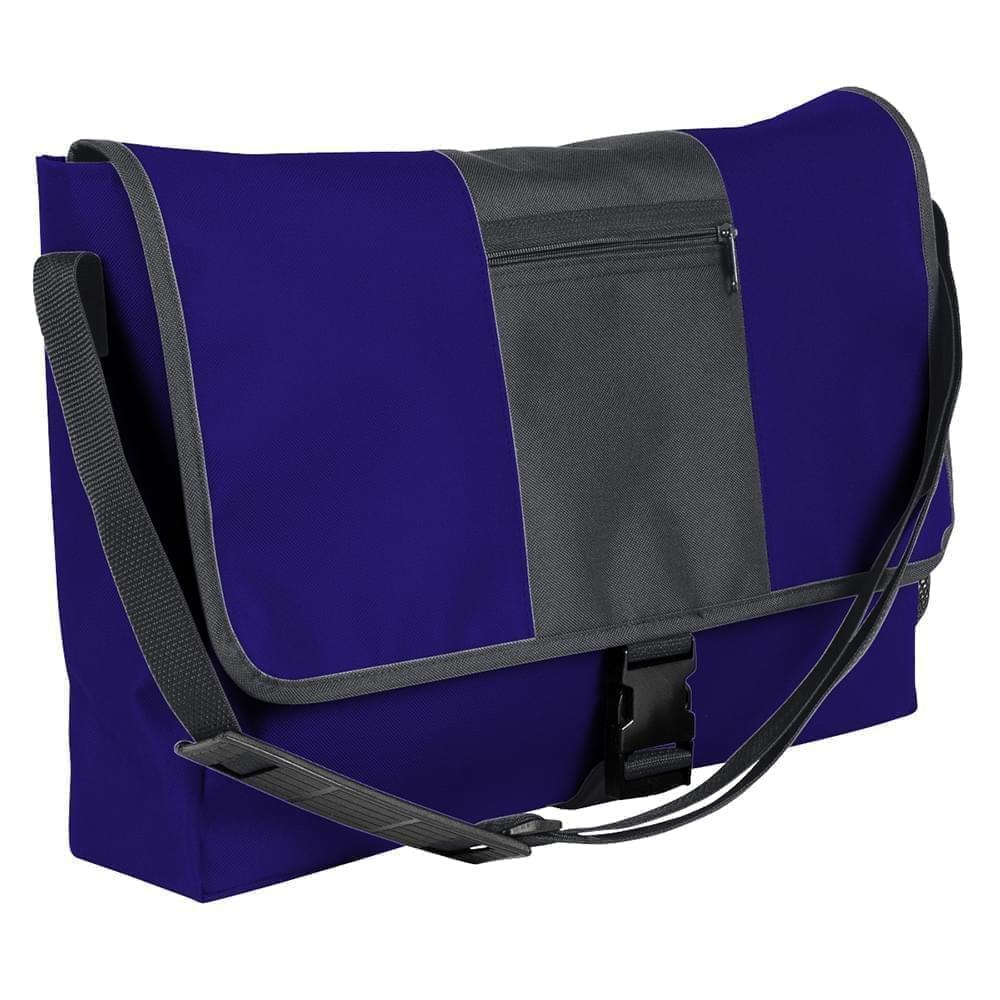 USA Made Nylon Poly Dad Shoulder Bags, Purple-Graphite, OHEDA19AYF
