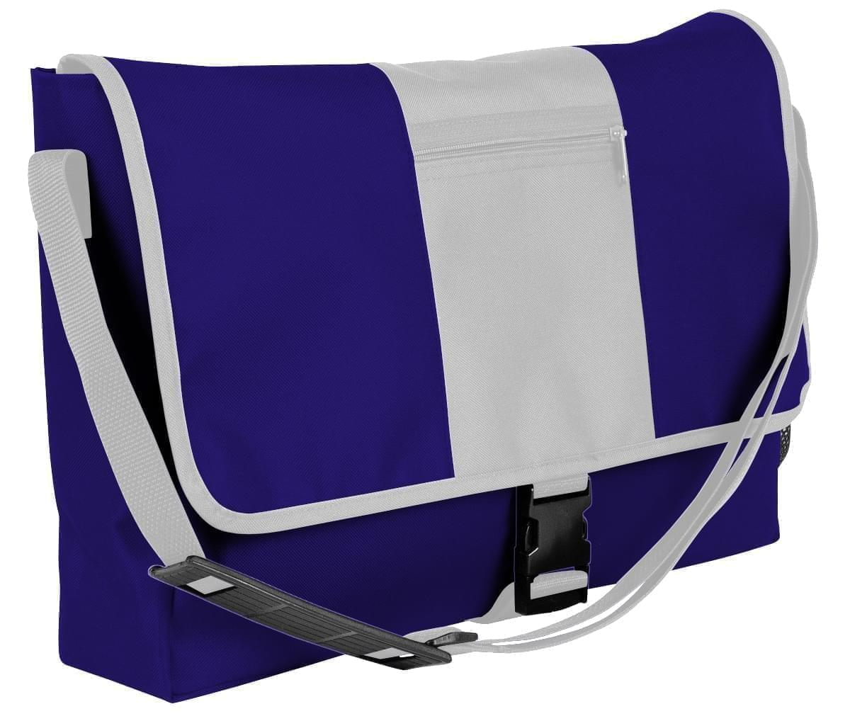 USA Made Nylon Poly Dad Shoulder Bags, Purple-White, OHEDA19AYP