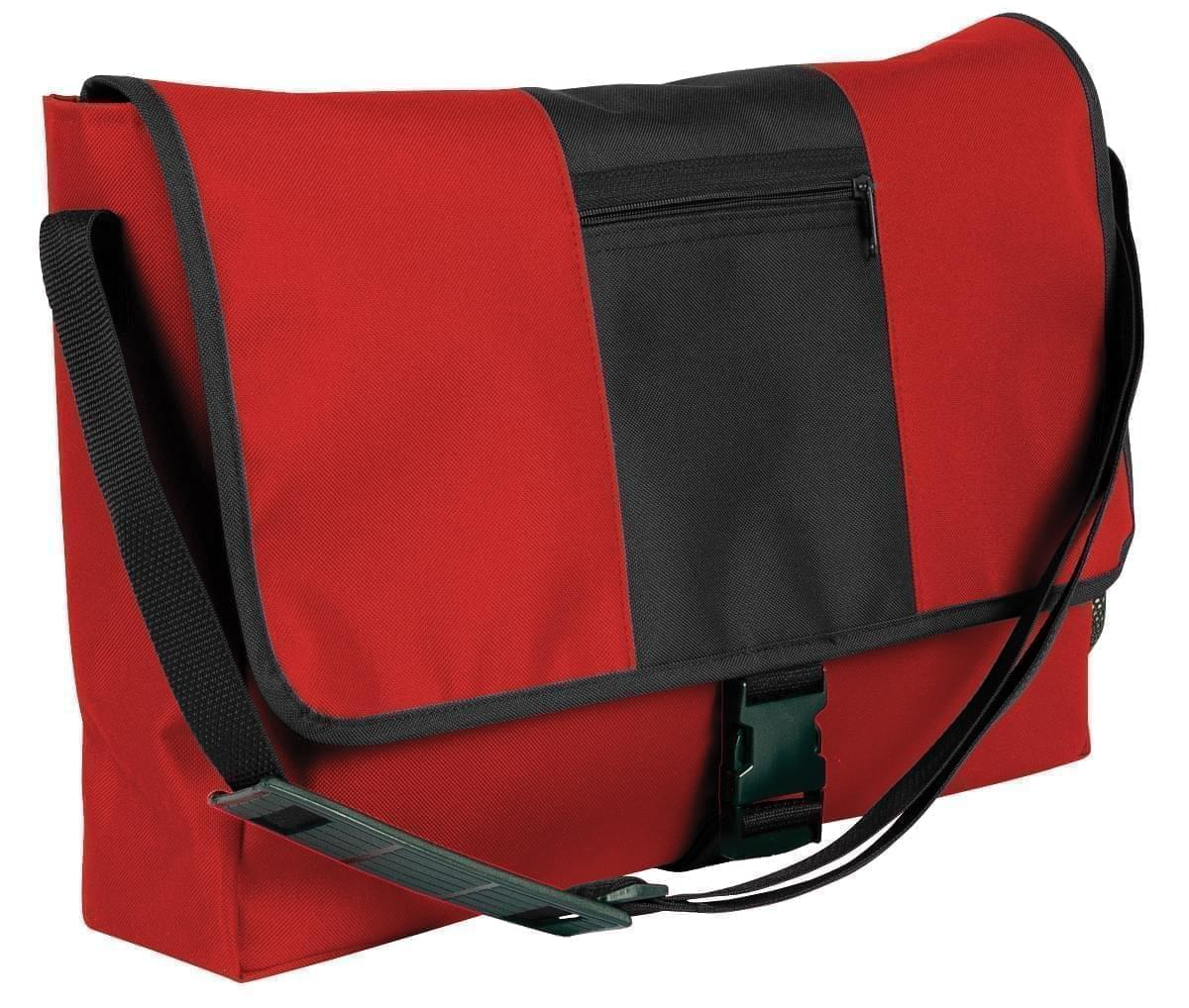 USA Made Nylon Poly Dad Shoulder Bags, Red-Black, OHEDA19AZC