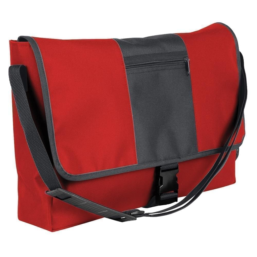 USA Made Nylon Poly Dad Shoulder Bags, Red-Graphite, OHEDA19AZF