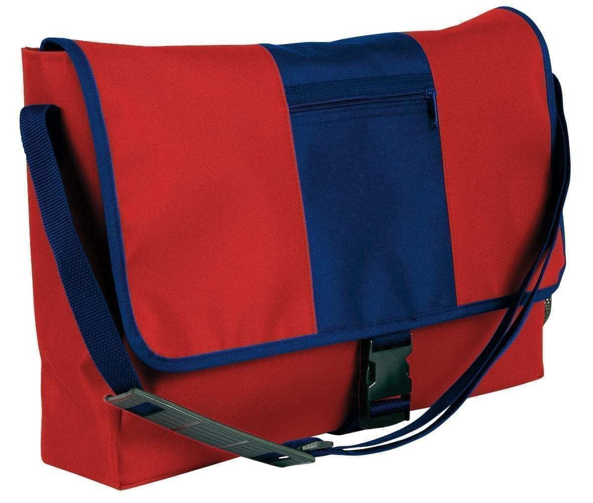 USA Made Nylon Poly Dad Shoulder Bags, Red-Navy, OHEDA19AZI