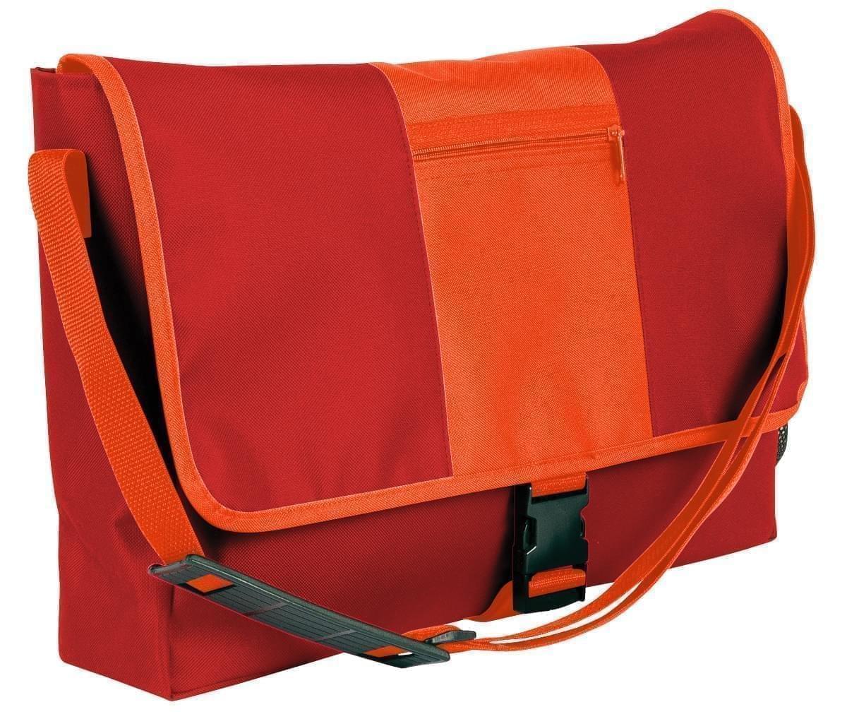 USA Made Nylon Poly Dad Shoulder Bags, Red-Orange, OHEDA19AZJ