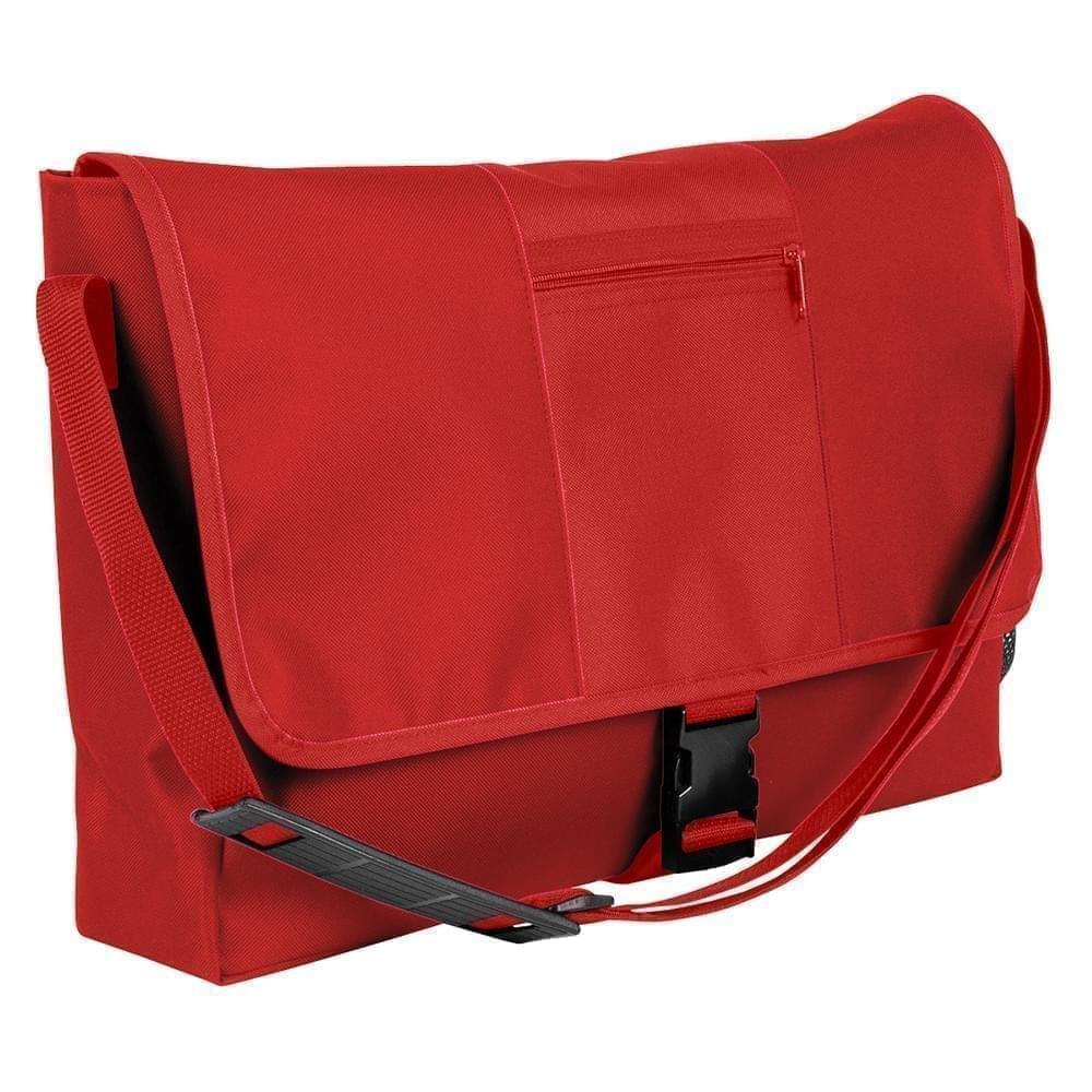 USA Made Nylon Poly Dad Shoulder Bags, Red-Red, OHEDA19AZL