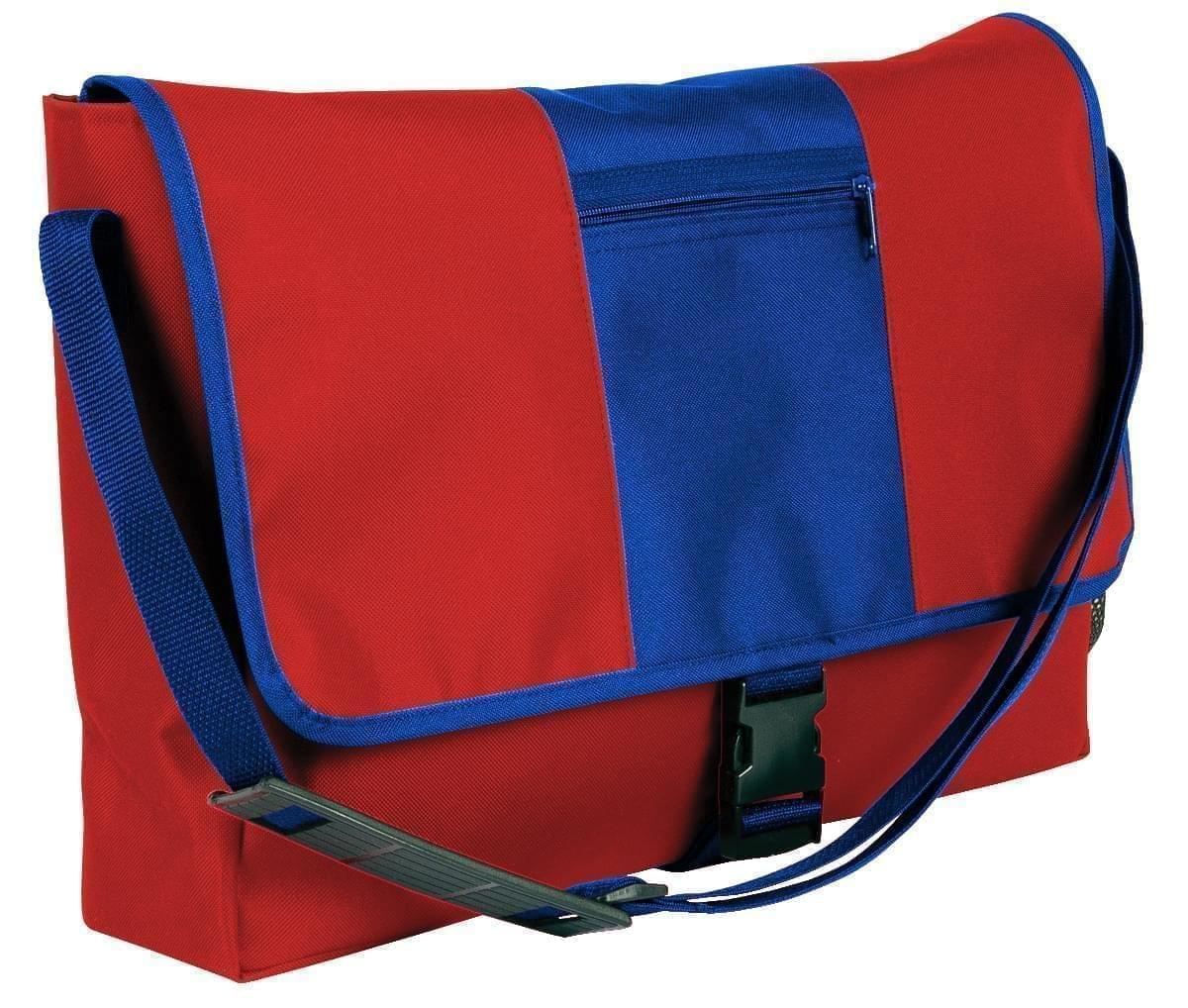 USA Made Nylon Poly Dad Shoulder Bags, Red-Royal Blue, OHEDA19AZM