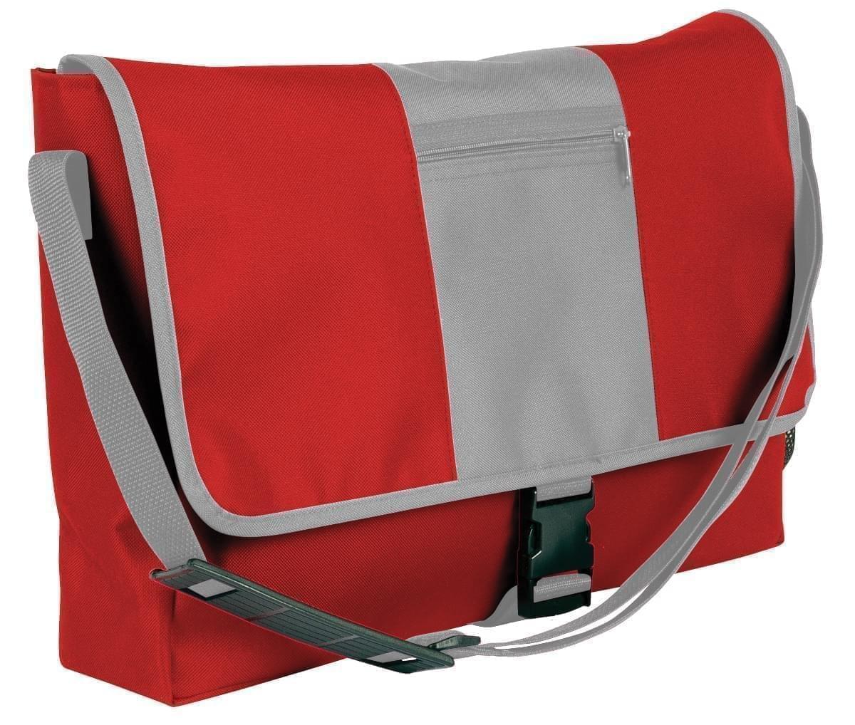 USA Made Nylon Poly Dad Shoulder Bags, Red-Grey, OHEDA19AZN
