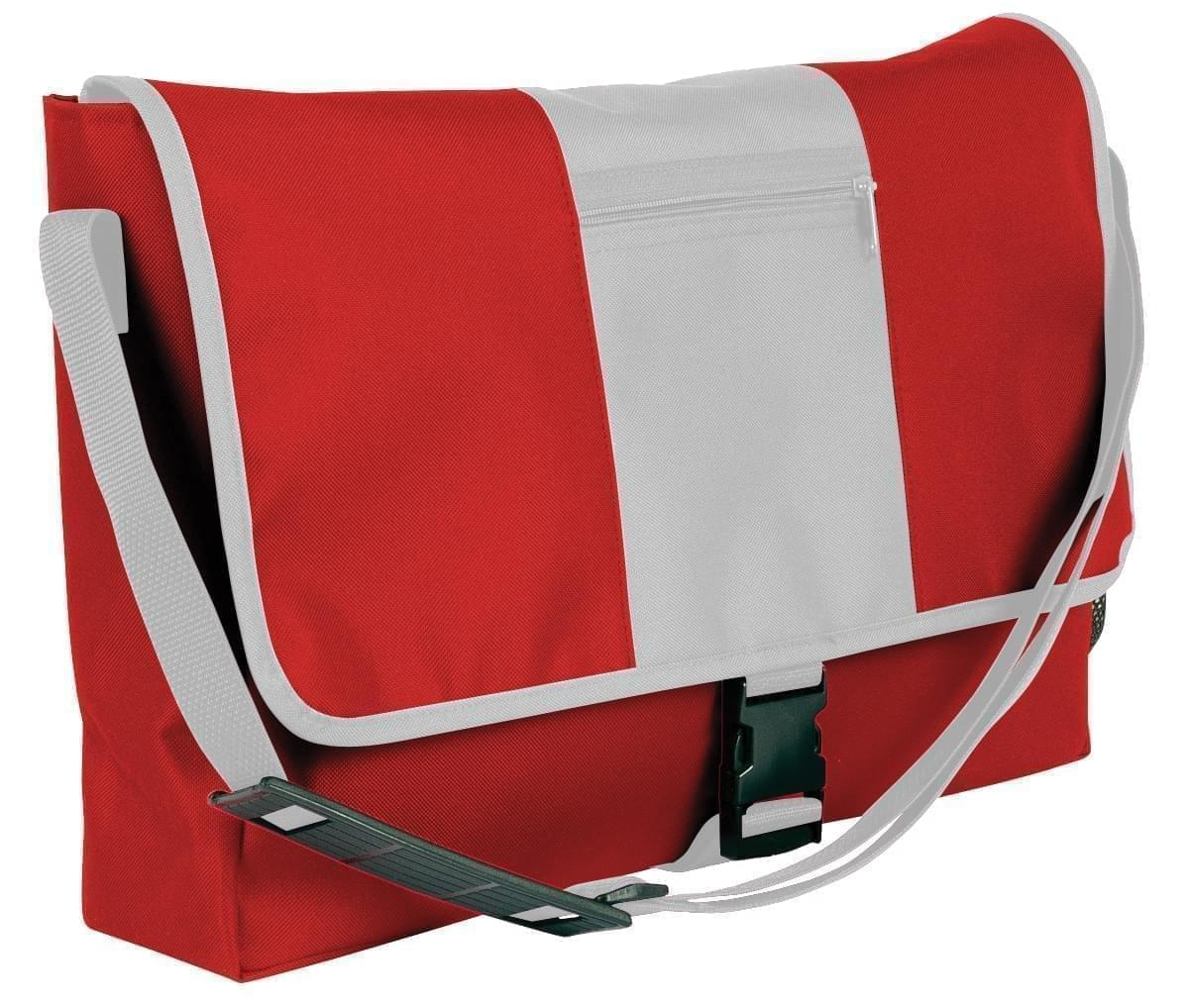 USA Made Nylon Poly Dad Shoulder Bags, Red-White, OHEDA19AZP
