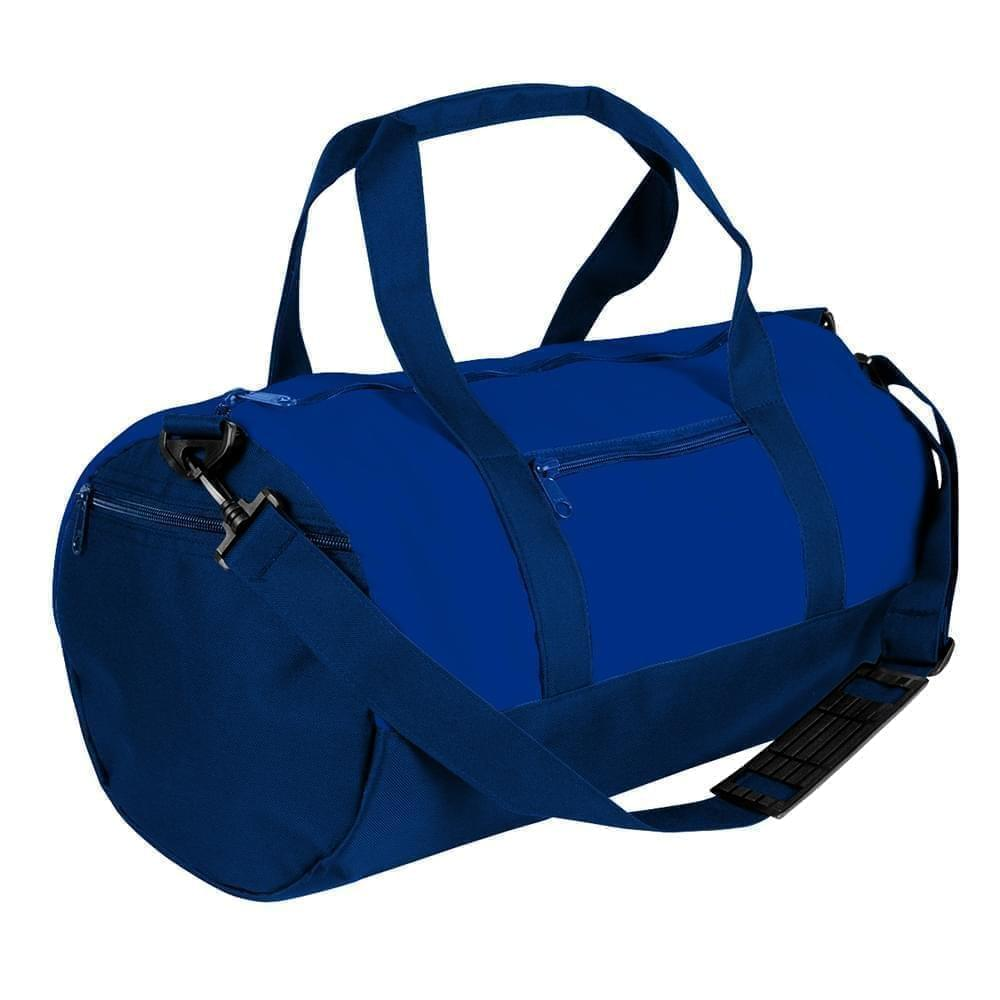 USA Made Nylon Poly Athletic Barrel Bags, Royal Blue-Navy, PMLXZ2AA0I
