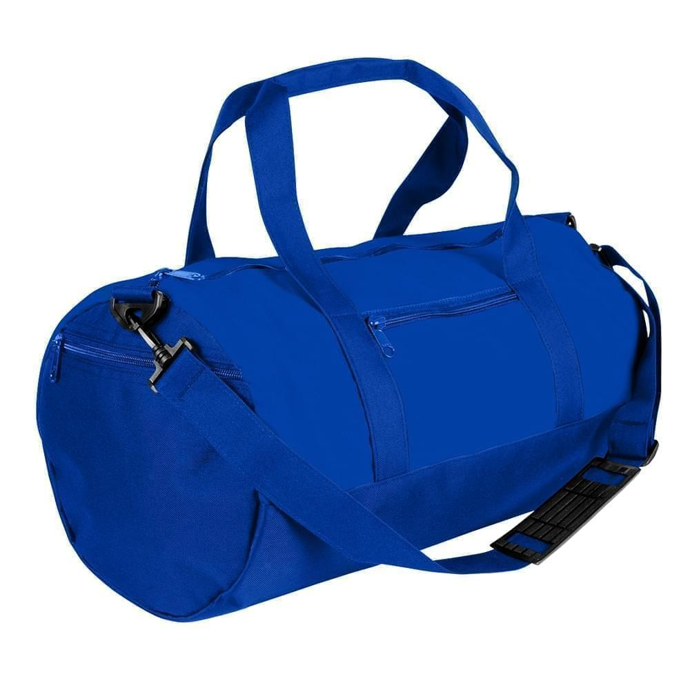 USA Made Nylon Poly Athletic Barrel Bags, Royal Blue-Royal Blue, PMLXZ2AA0M