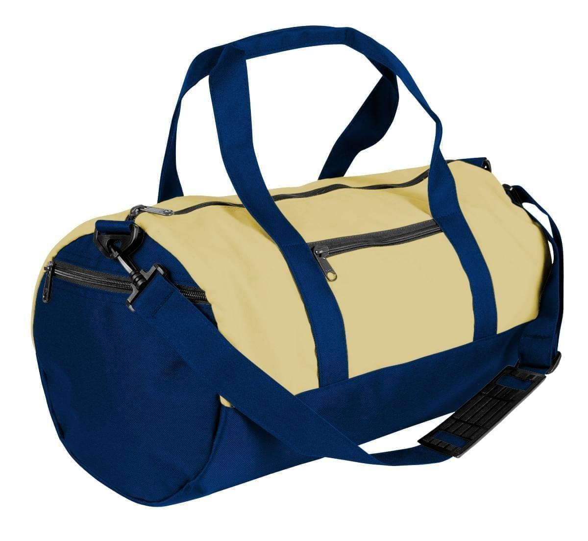 USA Made Canvas Equipment Duffle Bags, Natural-Navy, PMLXZ2AAKI