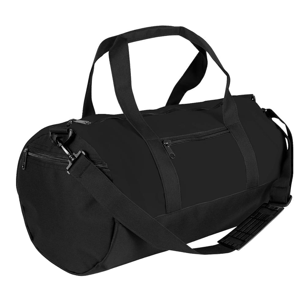 USA Made Heavy Canvas Athletic Barrel Bags, Black-Black, PMLXZ2AANR