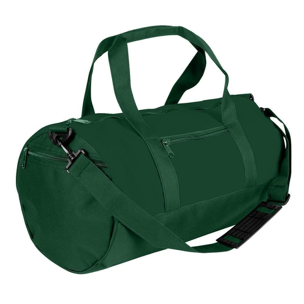 USA Made Nylon Poly Athletic Barrel Bags, Hunter Green-Hunter Green, PMLXZ2AASV