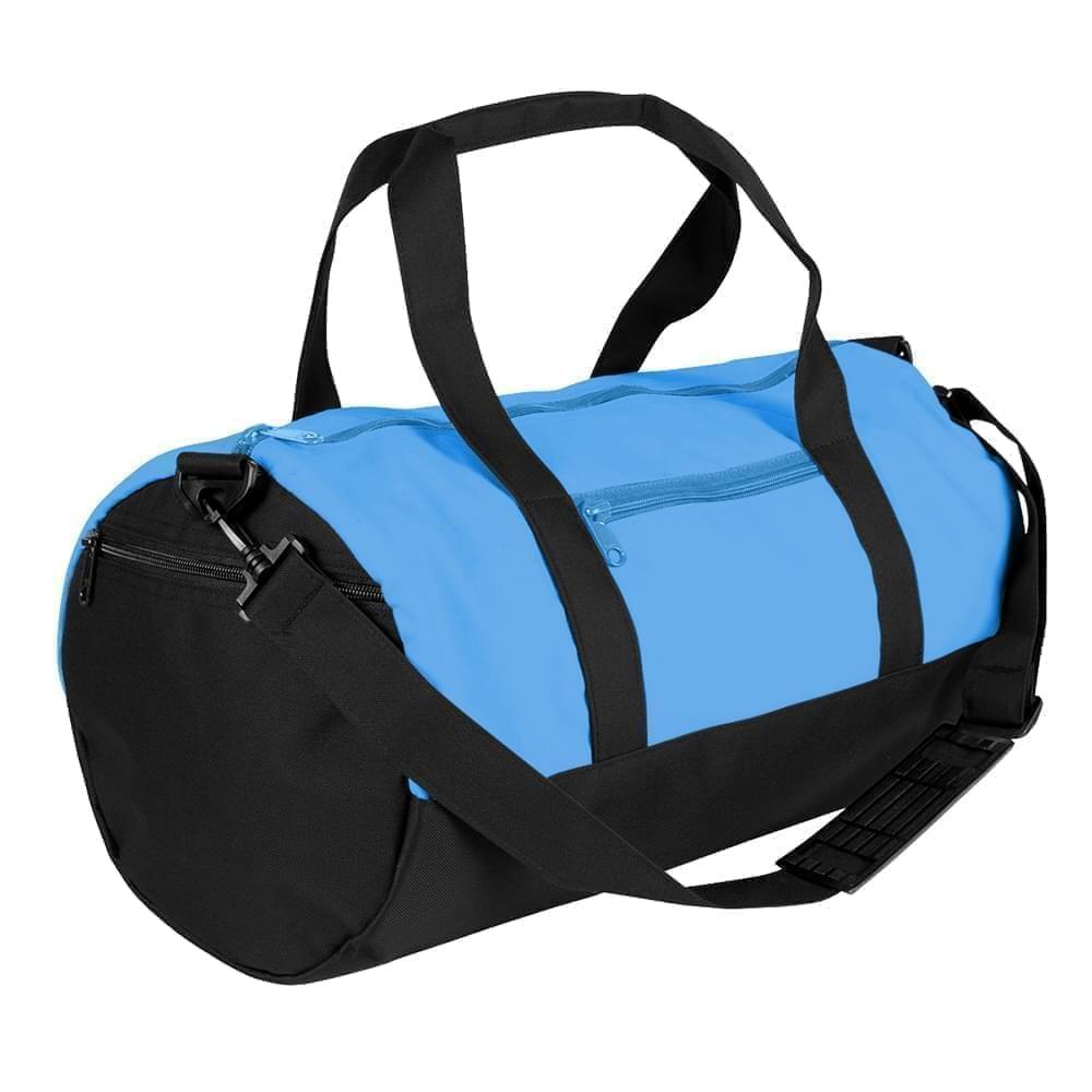 USA Made Nylon Poly Athletic Barrel Bags, Columbia-Black, PMLXZ2AAUC