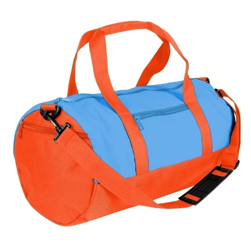 USA Made Nylon Poly Athletic Barrel Bags, Columbia-Orange, PMLXZ2AAUJ