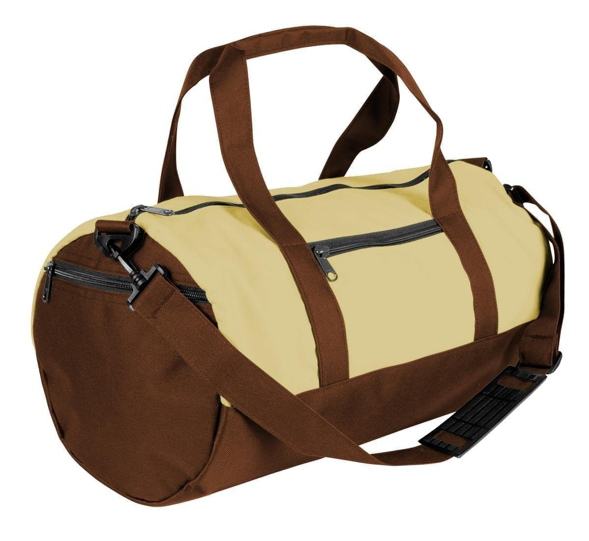 USA Made Heavy Canvas Athletic Barrel Bags, Natural-Brown, PMLXZ2AAVS