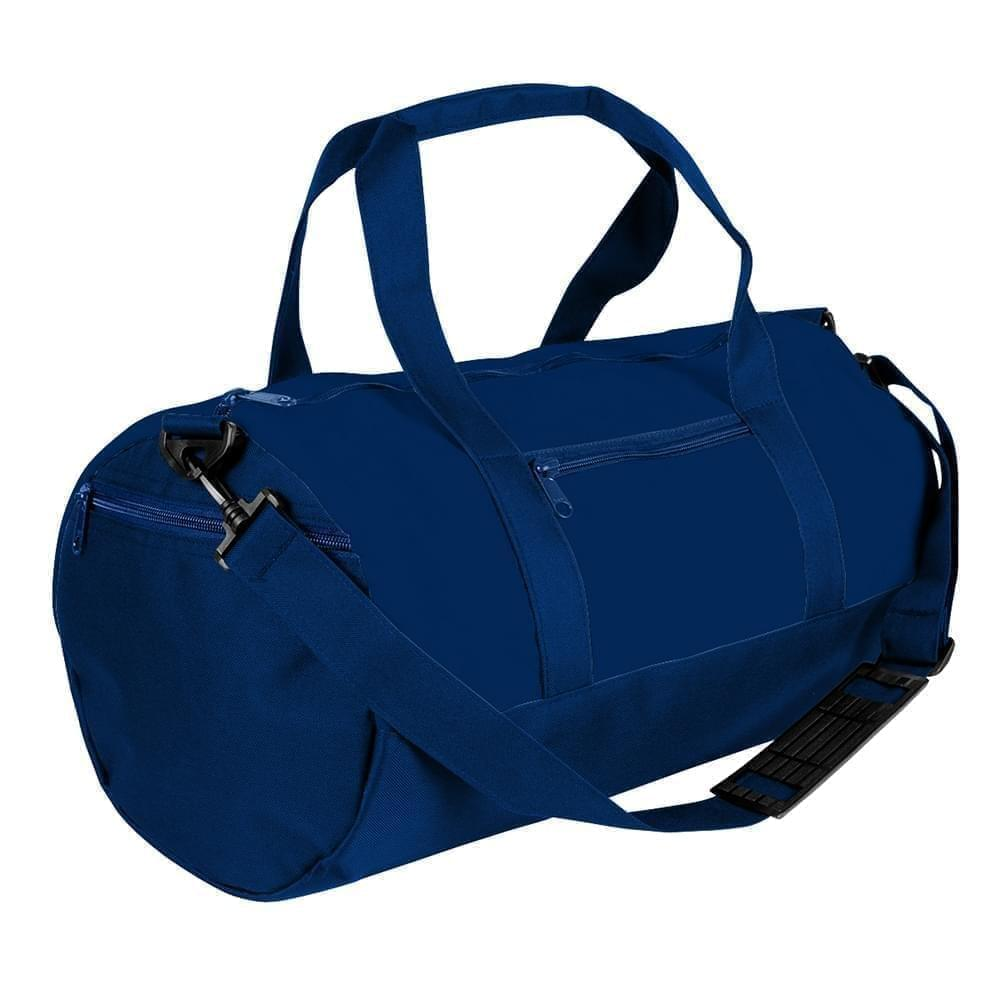 USA Made Nylon Poly Athletic Barrel Bags, Navy-Navy, PMLXZ2AAWI