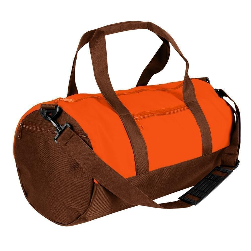 USA Made Nylon Poly Athletic Barrel Bags, Orange-Brown, PMLXZ2AAXD