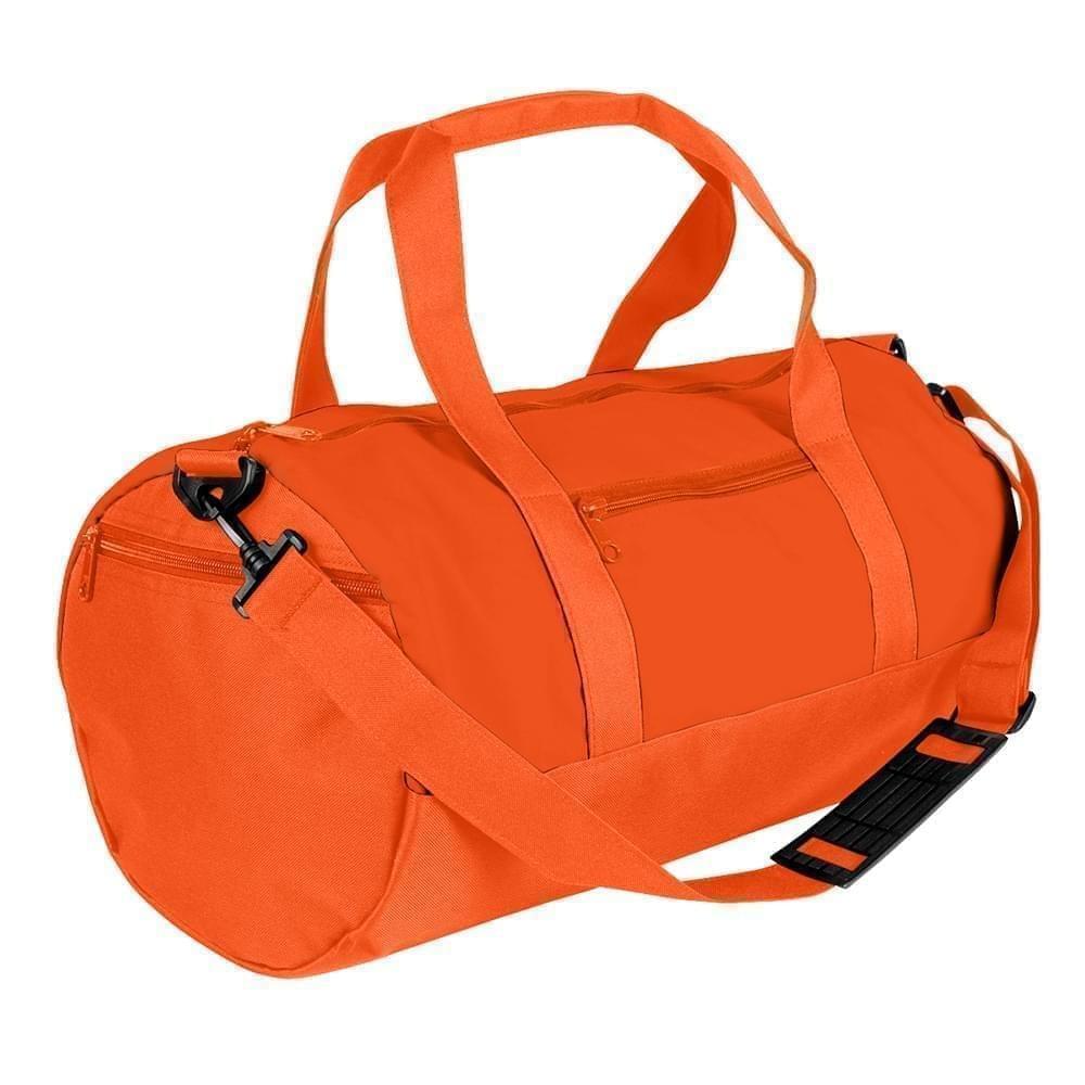 USA Made Nylon Poly Athletic Barrel Bags, Orange-Orange, PMLXZ2AAXJ