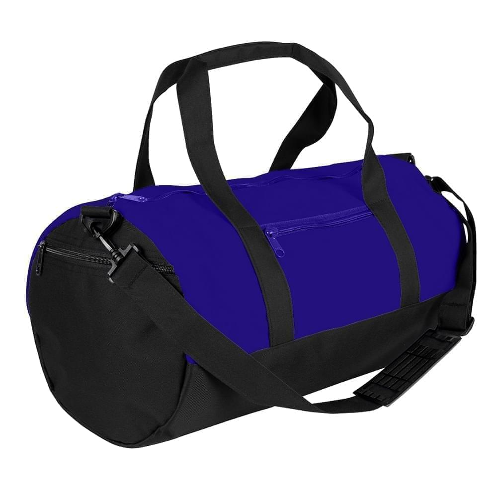USA Made Nylon Poly Athletic Barrel Bags, Purple-Black, PMLXZ2AAYC
