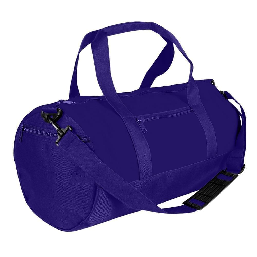 USA Made Nylon Poly Athletic Barrel Bags, Purple-Purple, PMLXZ2AAYK