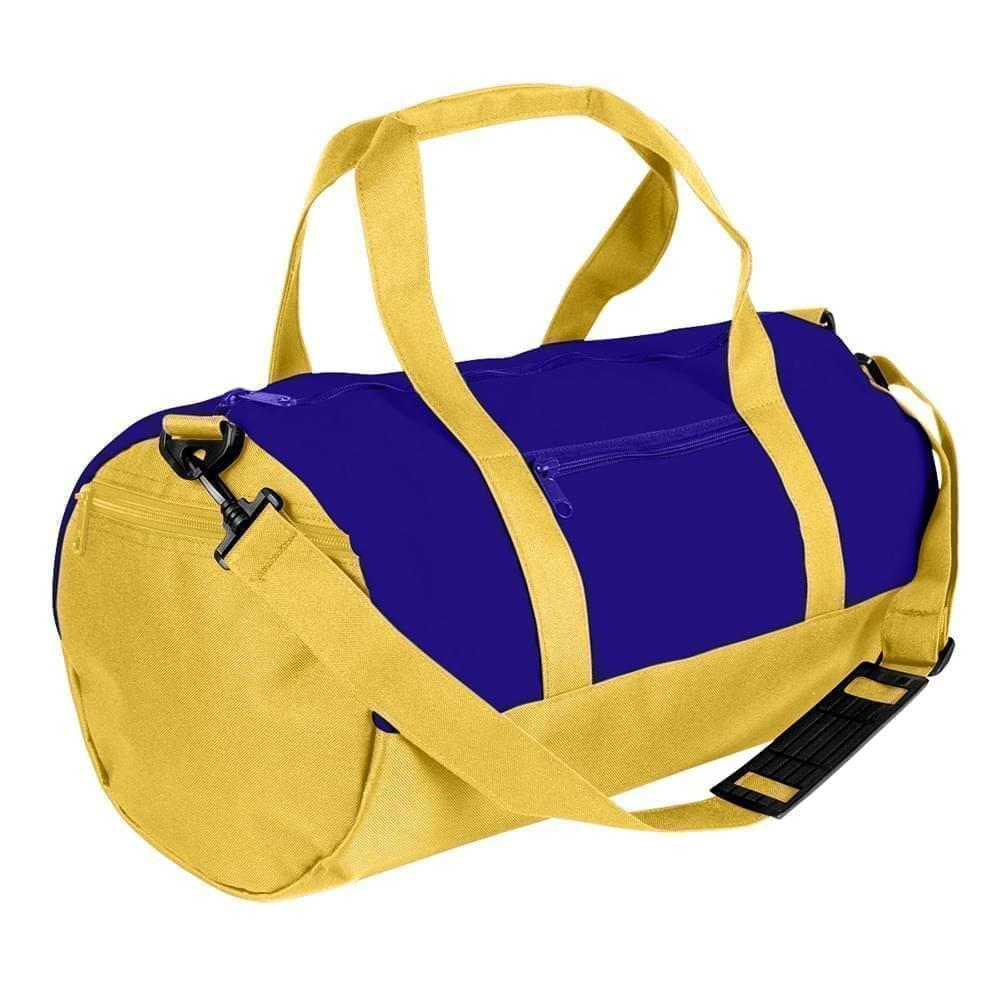 USA Made Nylon Poly Athletic Barrel Bags, Purple-Gold, PMLXZ2AAYQ