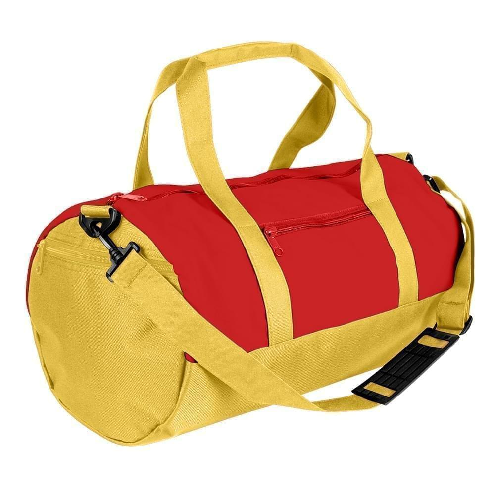 USA Made Nylon Poly Athletic Barrel Bags, Red-Gold, PMLXZ2AAZQ