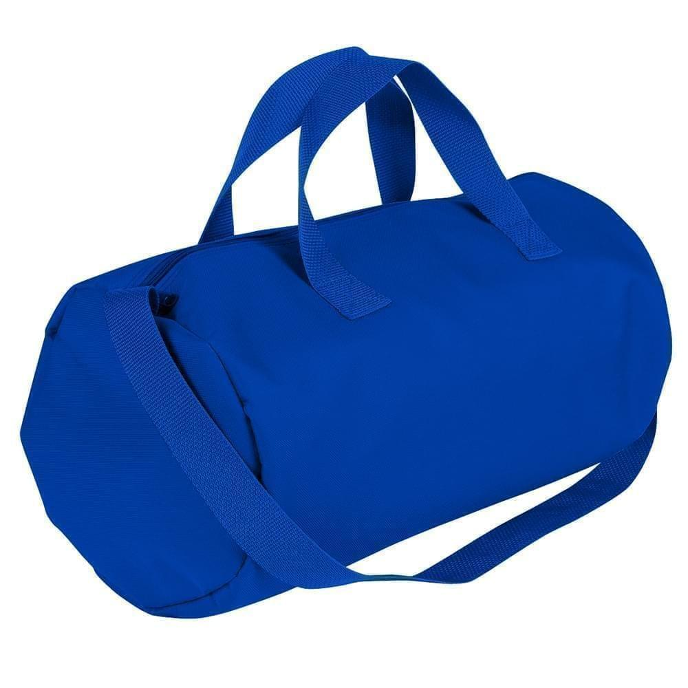 USA Made Nylon Poly Gym Roll Bags, Royal Blue-Royal Blue, ROCX31AA03