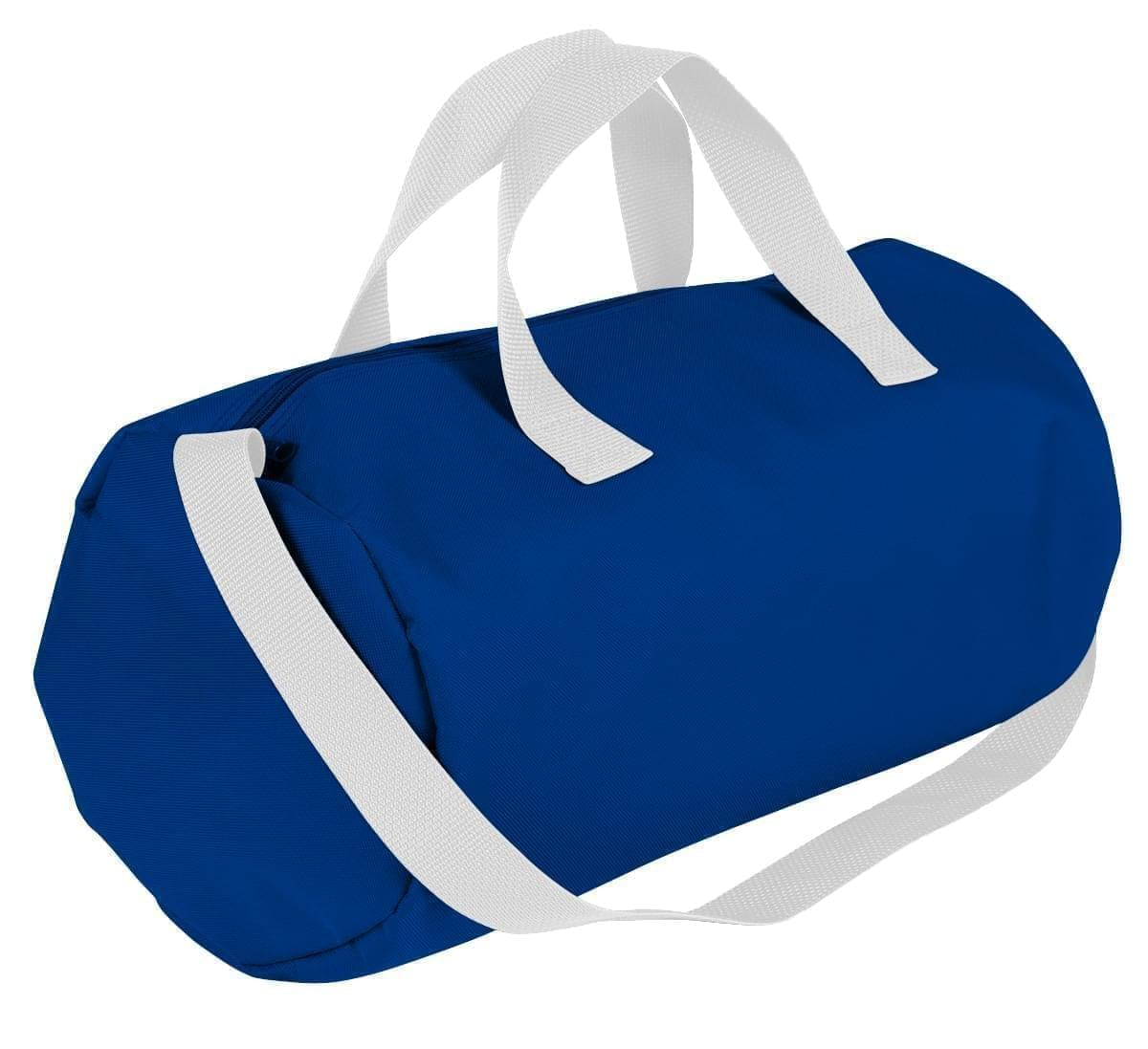 USA Made Nylon Poly Gym Roll Bags, Royal Blue-White, ROCX31AA04