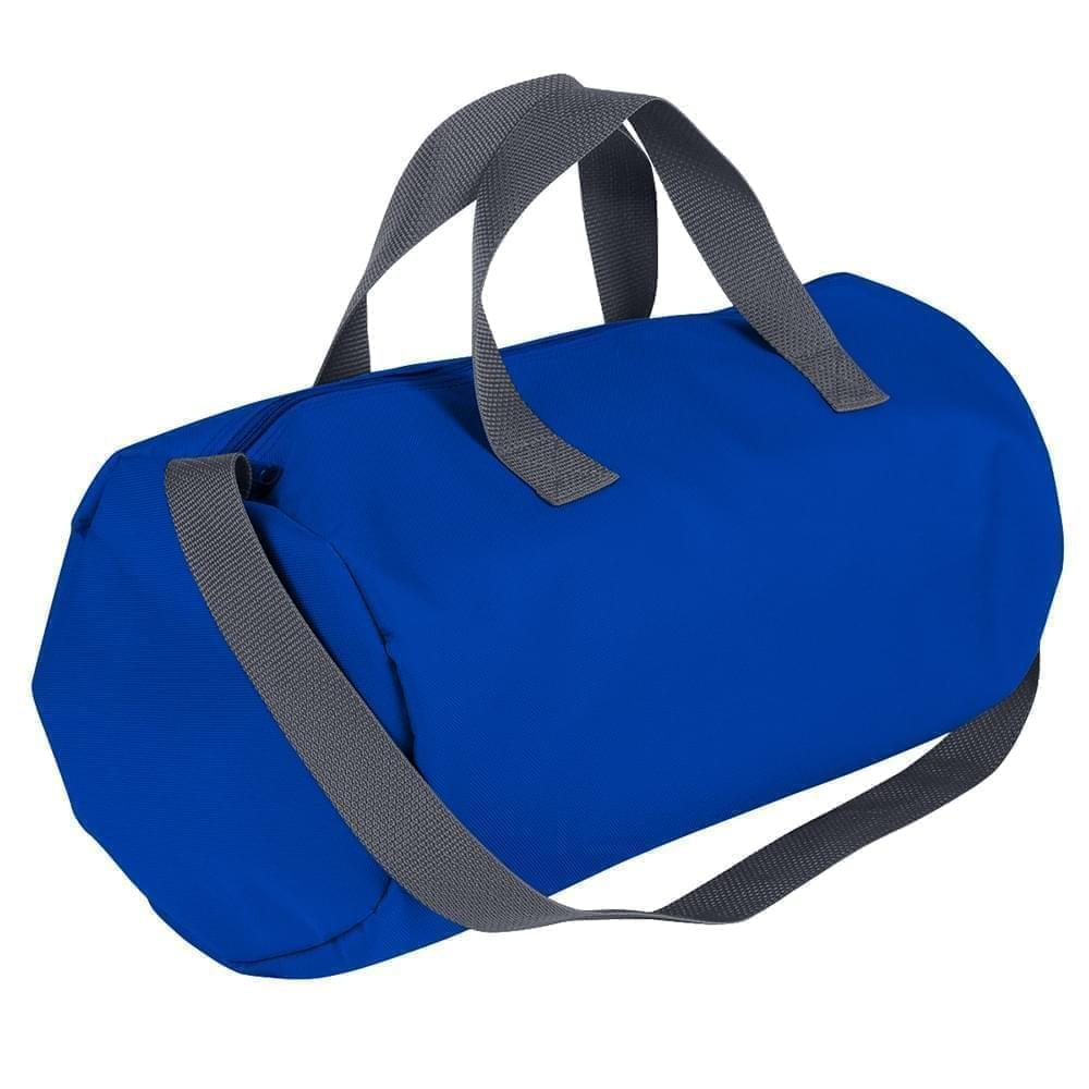 USA Made Nylon Poly Gym Roll Bags, Royal Blue-Graphite, ROCX31AA0T