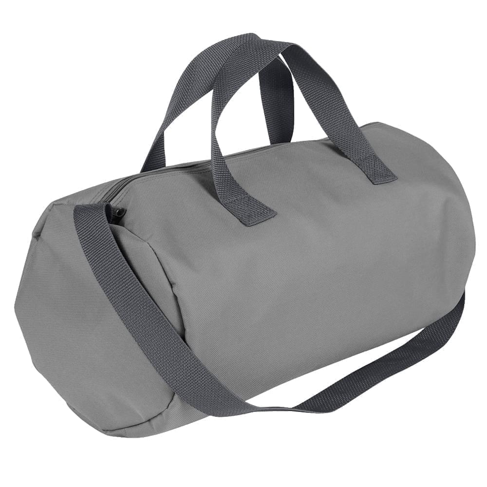 USA Made Nylon Poly Gym Roll Bags, Grey-Graphite, ROCX31AA1T
