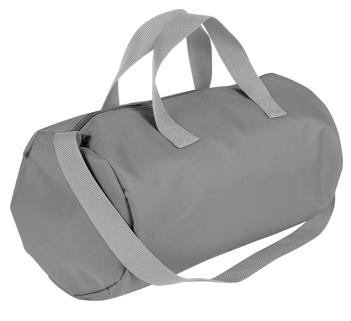 USA Made Nylon Poly Gym Roll Bags, Grey-Grey, ROCX31AA1U