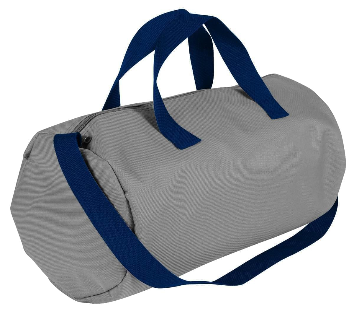 USA Made Nylon Poly Gym Roll Bags, Grey-Navy, ROCX31AA1Z
