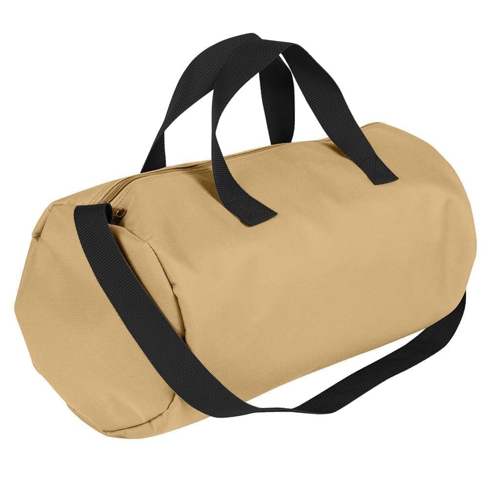 USA Made Nylon Poly Gym Roll Bags, Khaki-Black, ROCX31AA2R