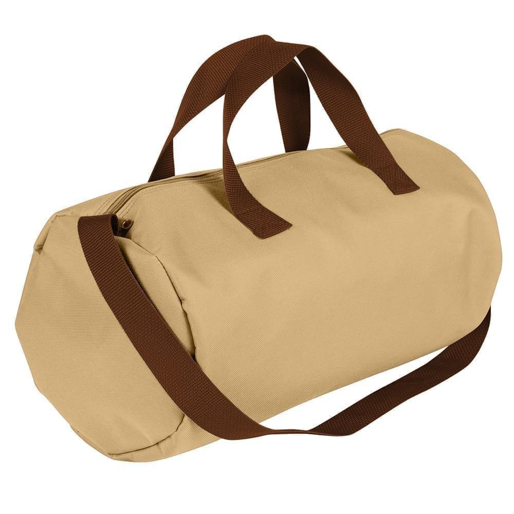 USA Made Nylon Poly Gym Roll Bags, Khaki-Brown, ROCX31AA2S