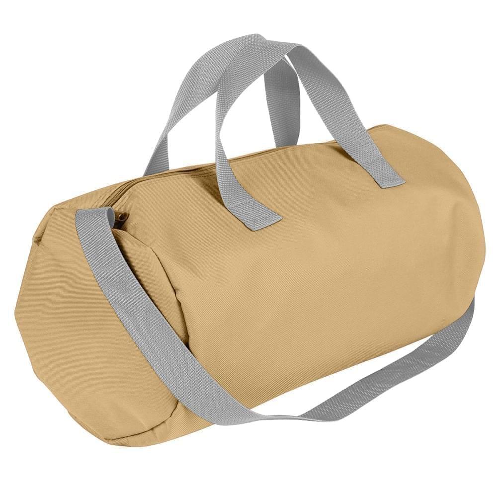 USA Made Nylon Poly Gym Roll Bags, Khaki-Grey, ROCX31AA2U