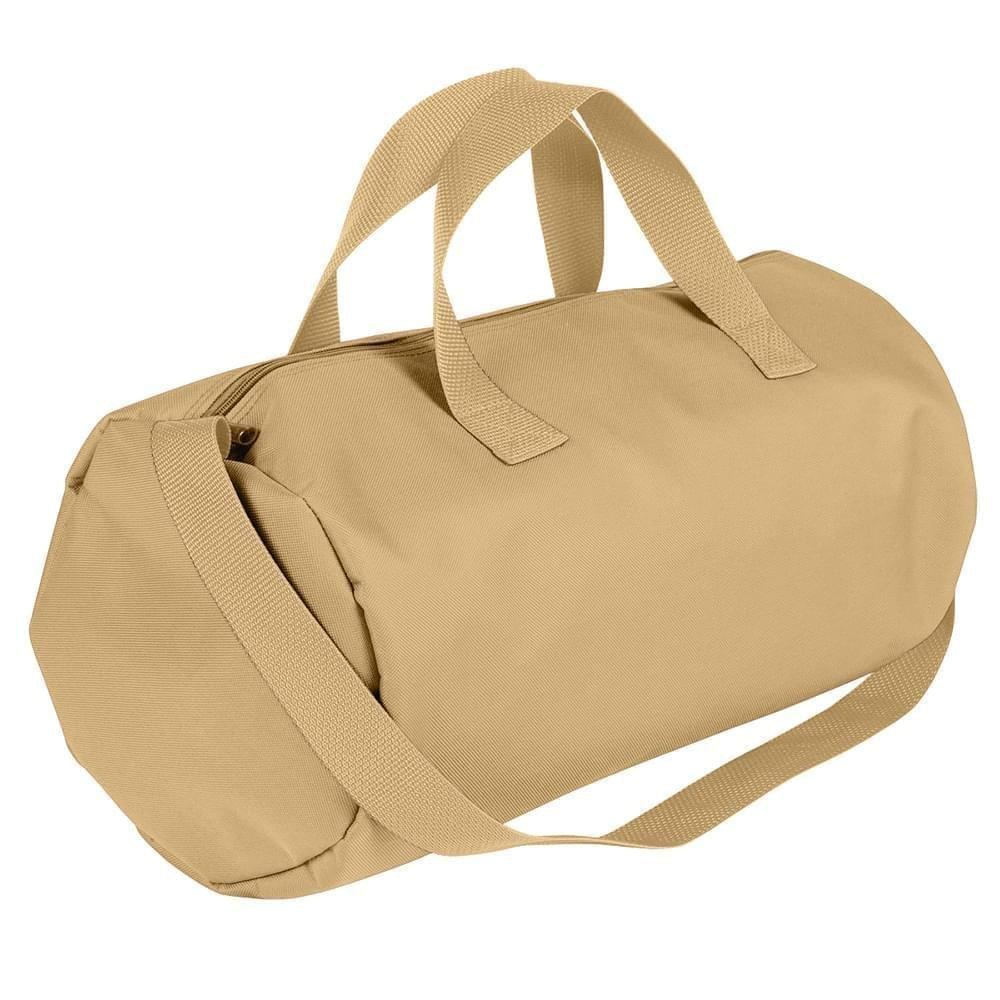 USA Made Nylon Poly Gym Roll Bags, Khaki-Khaki, ROCX31AA2X