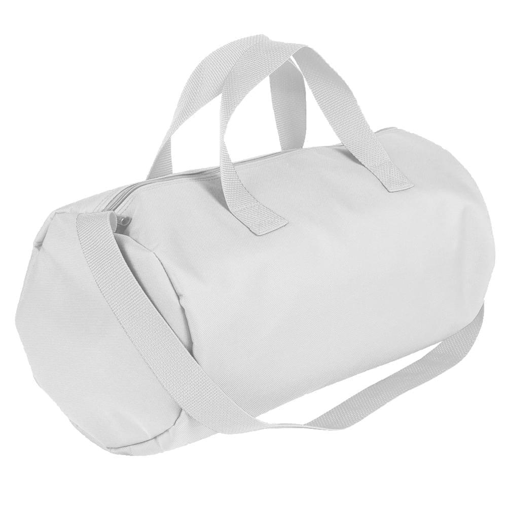 USA Made Nylon Poly Gym Roll Bags, White-White, ROCX31AA34