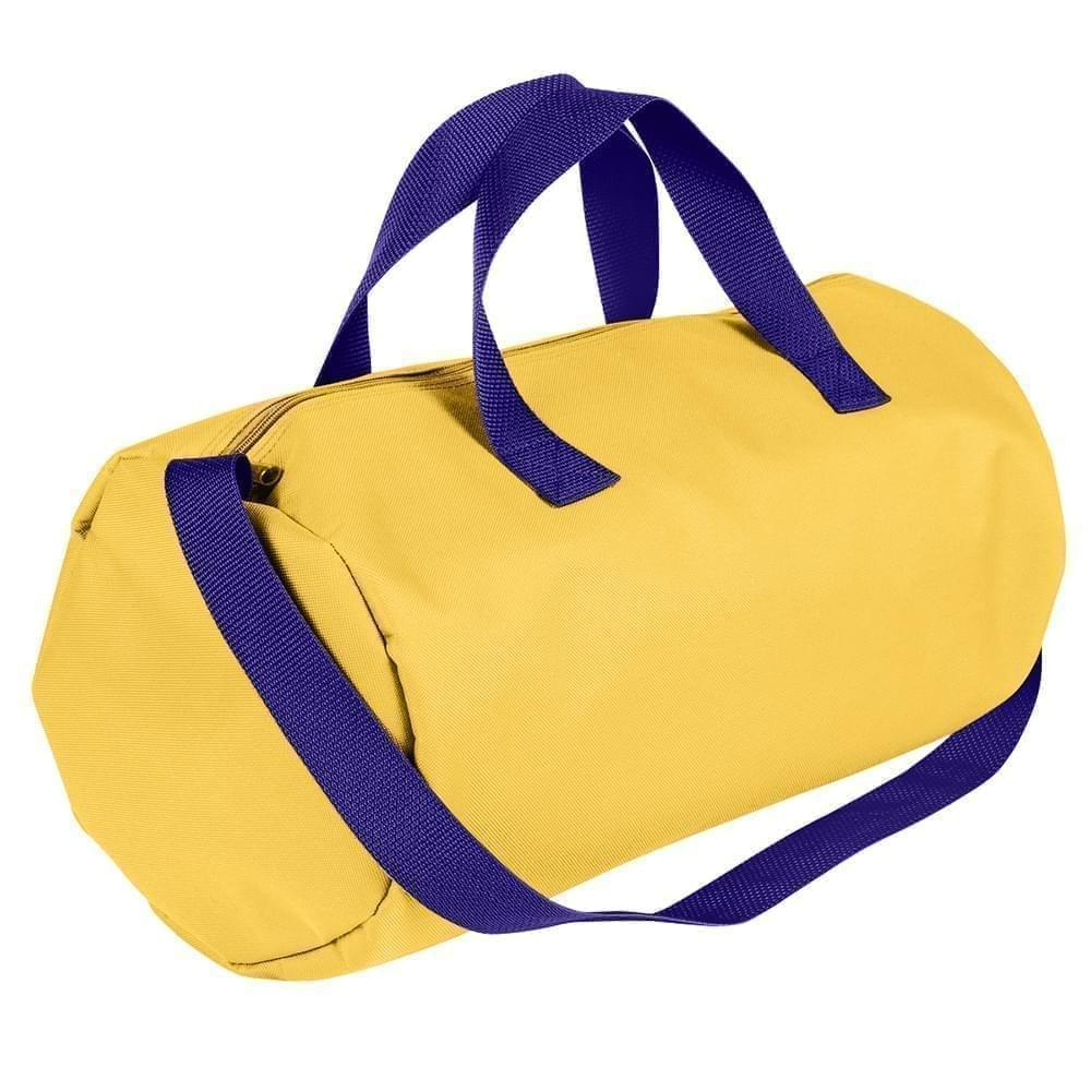 USA Made Nylon Poly Gym Roll Bags, Gold-Purple, ROCX31AA41