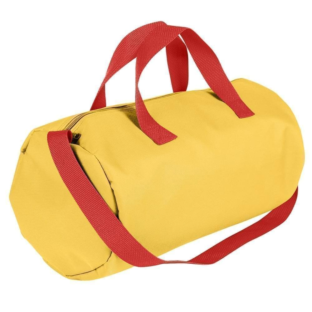 USA Made Nylon Poly Gym Roll Bags, Gold-Red, ROCX31AA42