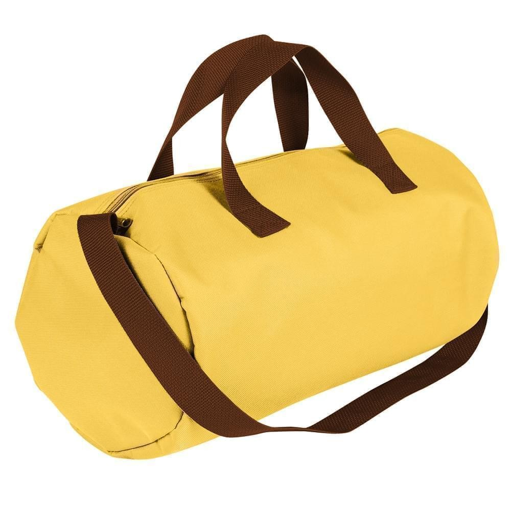 USA Made Nylon Poly Gym Roll Bags, Gold-Brown, ROCX31AA4S