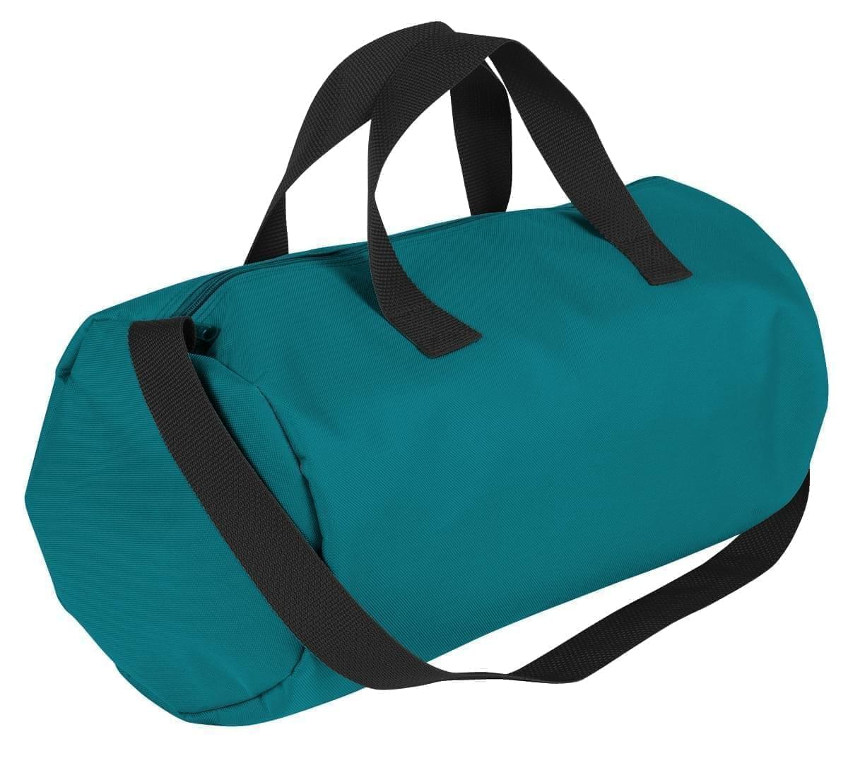 USA Made Nylon Poly Gym Roll Bags, Turquoise-Black, ROCX31AA9R