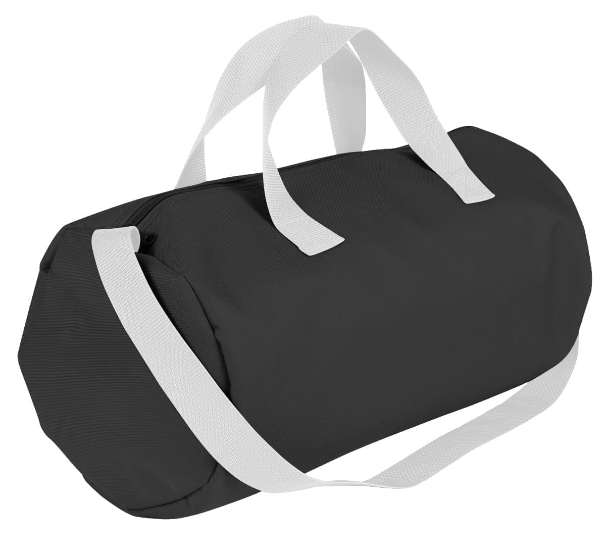 USA Made Nylon Poly Gym Roll Bags, Black-White, ROCX31AAO4