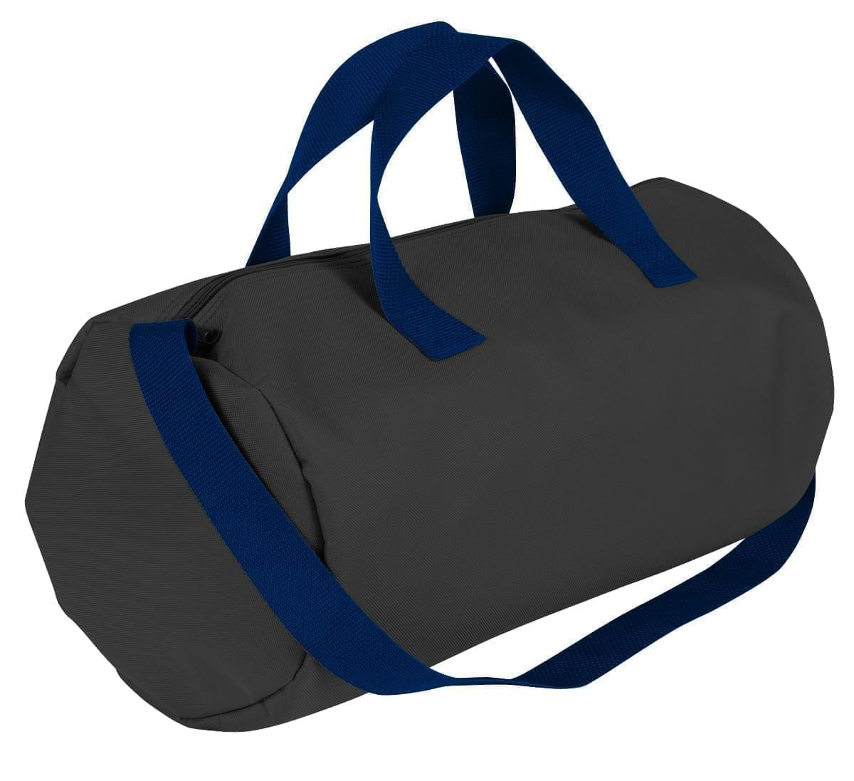 USA Made Nylon Poly Gym Roll Bags, Black-Navy, ROCX31AAOZ
