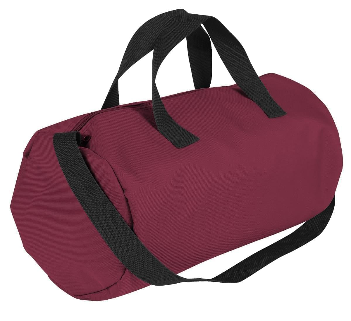USA Made Nylon Poly Gym Roll Bags, Burgundy-Black, ROCX31AAQR