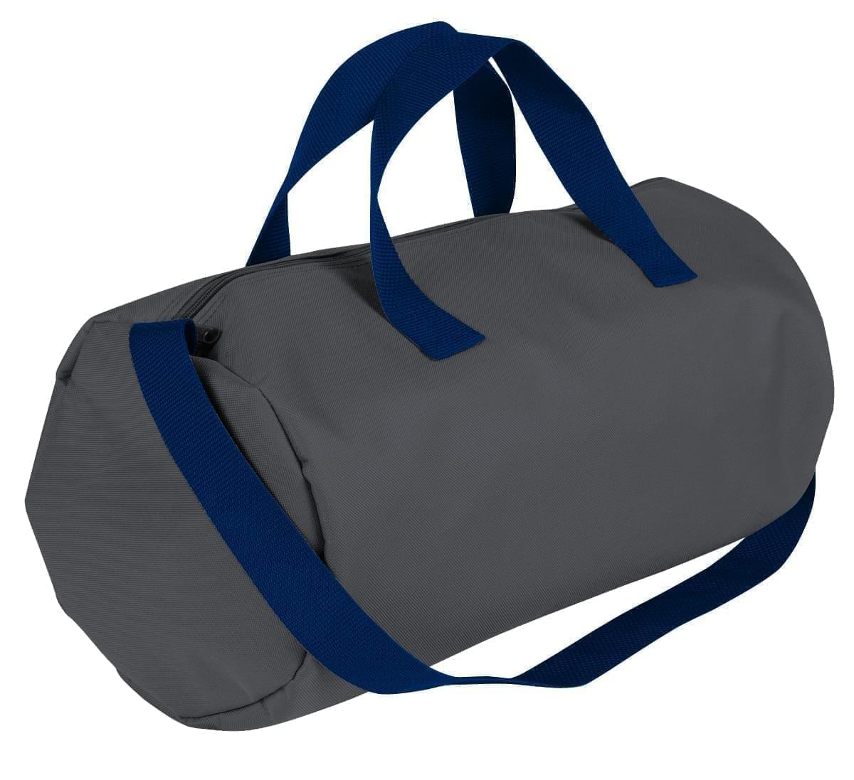 USA Made Nylon Poly Gym Roll Bags, Graphite-Navy, ROCX31AARZ