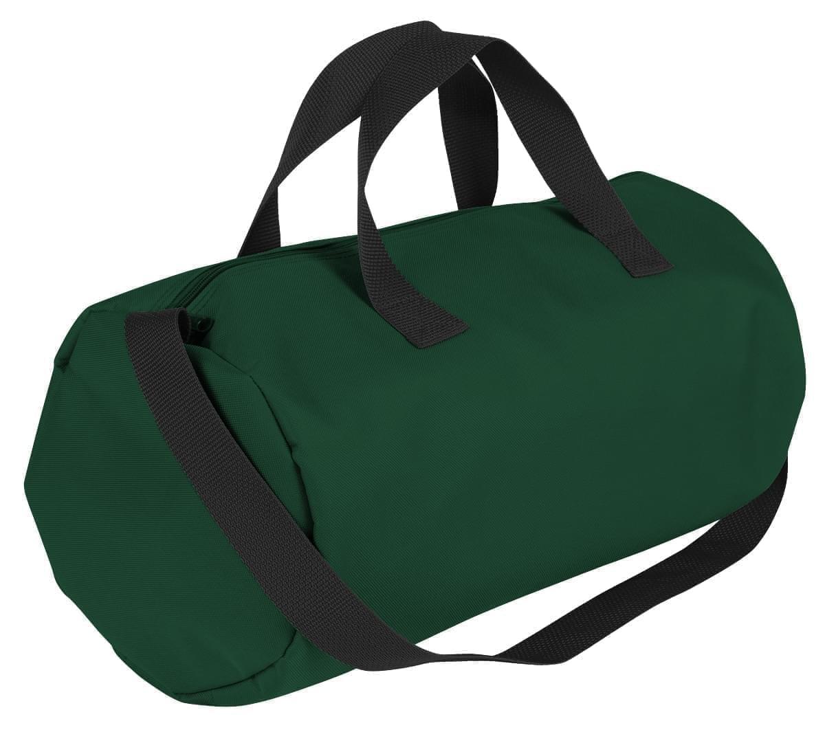 USA Made Nylon Poly Gym Roll Bags, Hunter Green-Black, ROCX31AASR