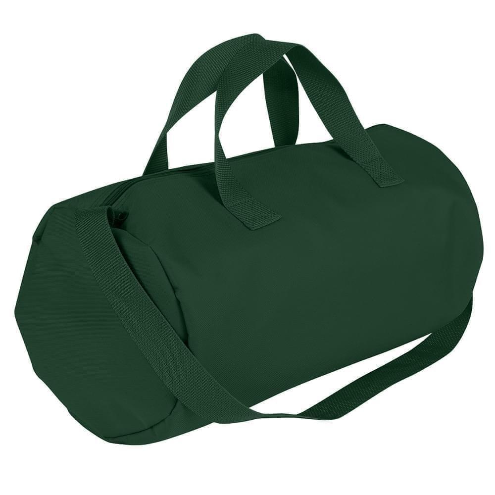 USA Made Nylon Poly Gym Roll Bags, Hunter Green-Hunter Green, ROCX31AASV