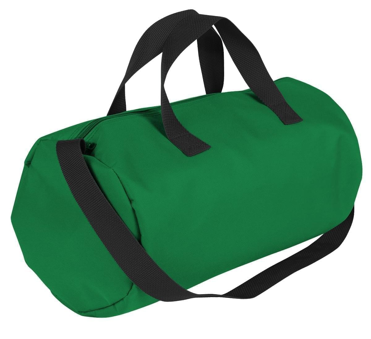 USA Made Nylon Poly Gym Roll Bags, Kelly Green-Black, ROCX31AATR